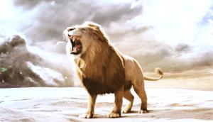 Aslan roaring