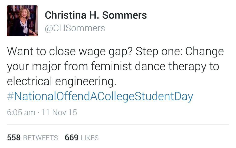 Christina Sommers on closing the wage gap
