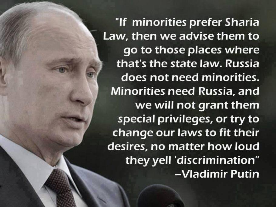 Putin makes sense on sharia