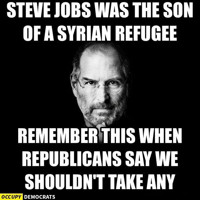 Steve Jobs means we should let in Syrians