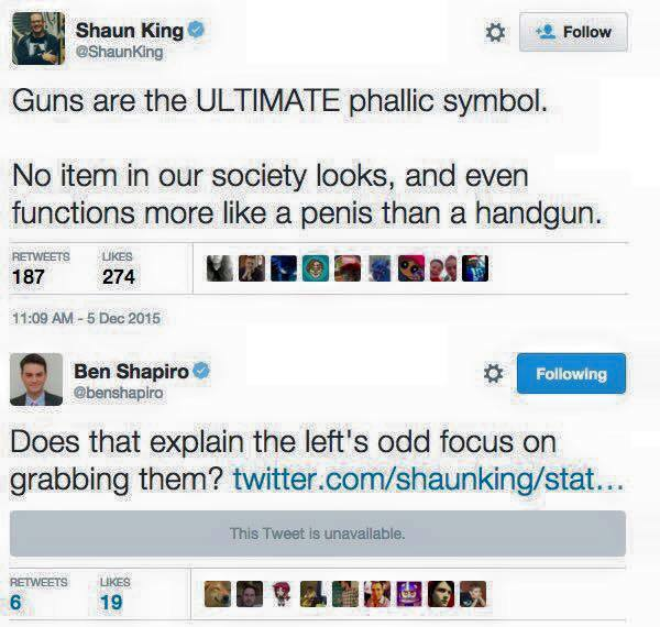 Guns as phallic symbols