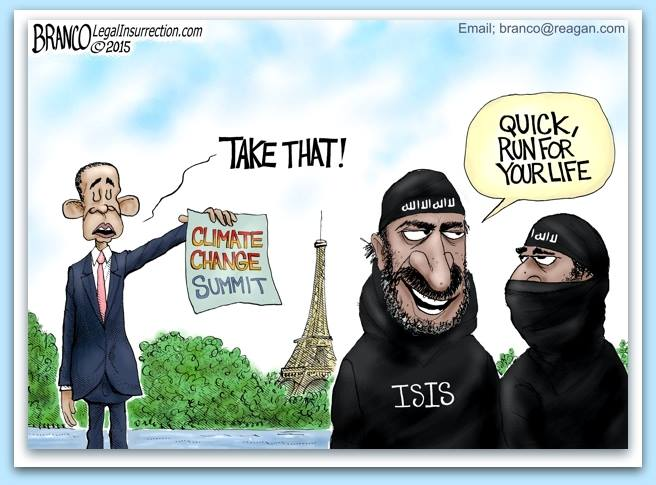 Obama scares ISIS with climate change