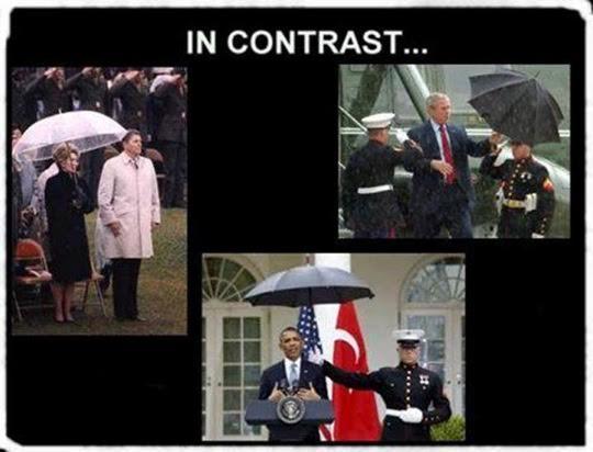 Presidents Marines umbrellas