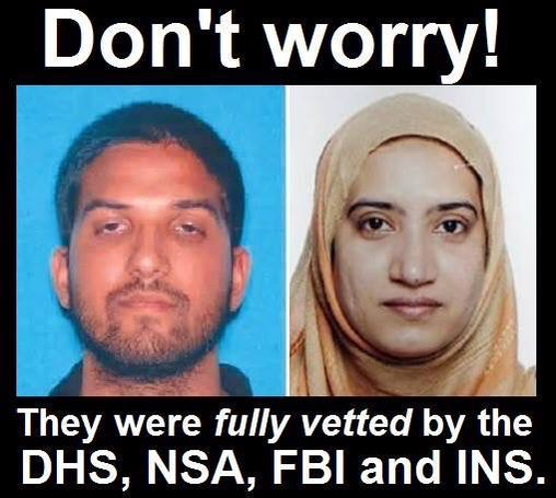 San Bernardino shooters vetted by government
