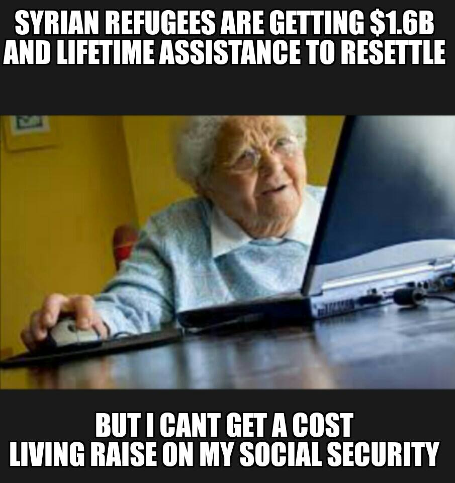 Syrians get money retirees get to cost of living raise
