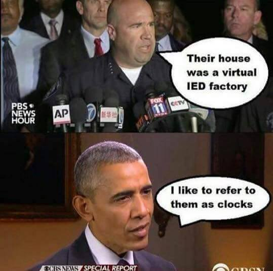 Terrorists and clock boy