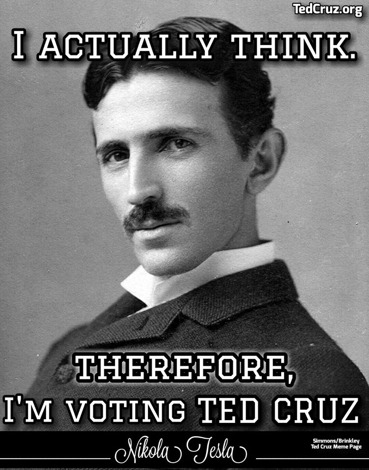 Think voting Ted Cruz