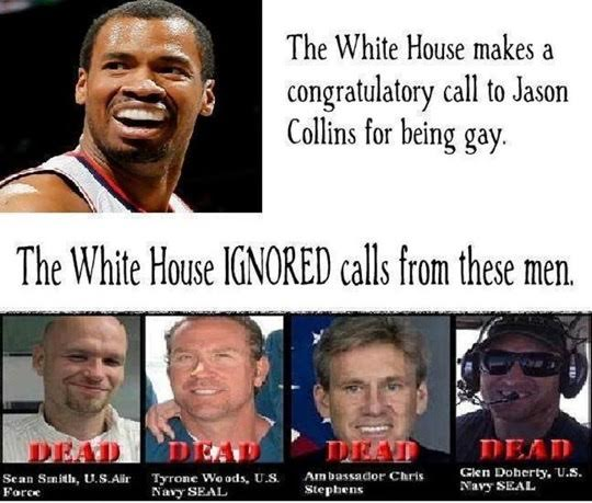 White House ignored Benghazi calls but congratulates athletes for being gay
