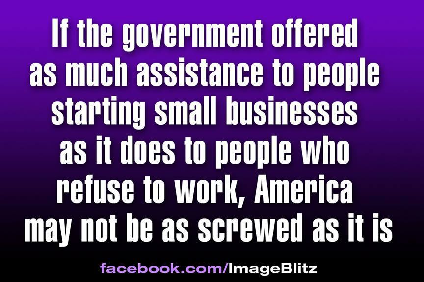 Government assistance to people who want to work