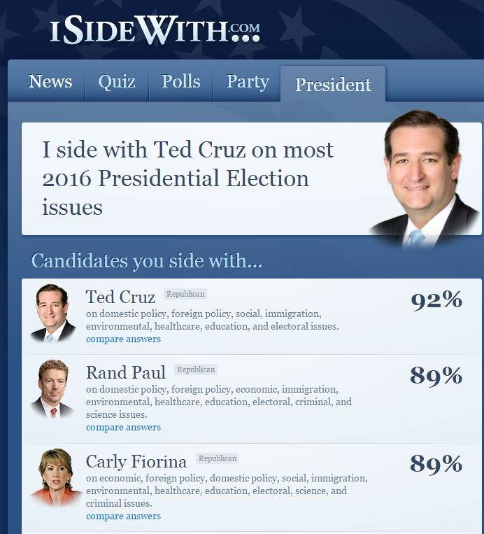 I side with Ted Cruz
