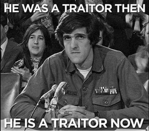Kerry traitor always
