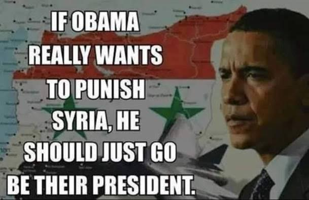 Obama could punish Syria by being president