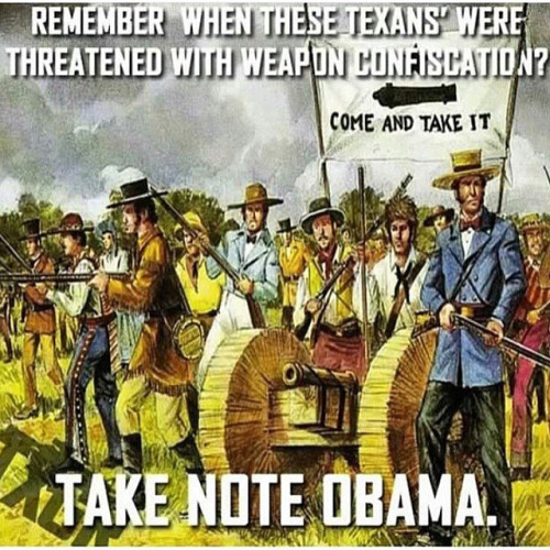 Texans don't give up guns