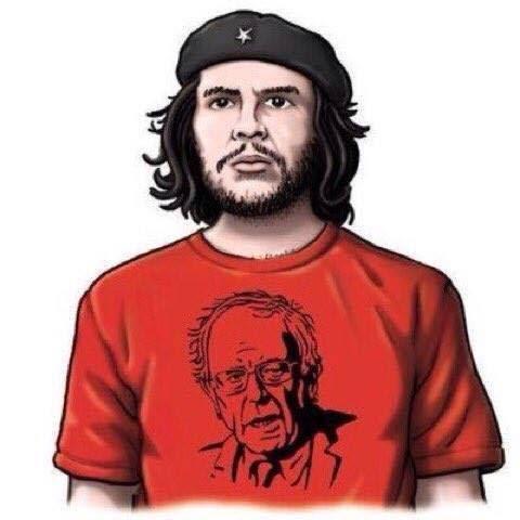 Che in a Bernie tshirt