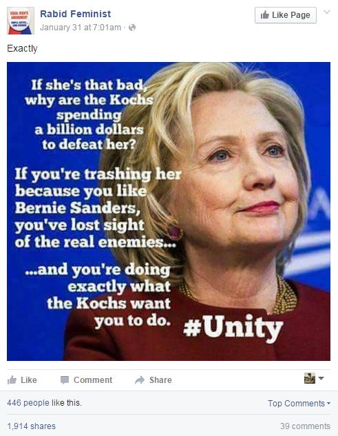 Koch Brother conspiracy against Hillary