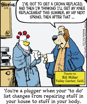 Pluggers end up repairing stuff in body