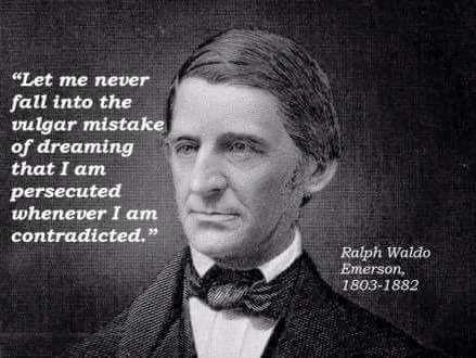 Ralph Waldo Emerson on opposition versus persecution