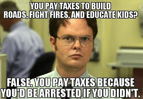 Taxes paid because taken by guns