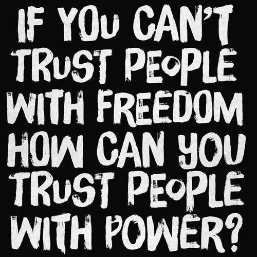Trusting people with freedom and power