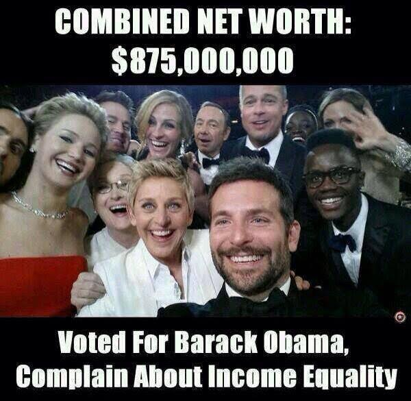 Crazy Liberals Hollywood wealth income inequality
