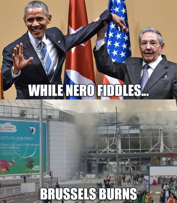 Nero Obama fiddles while Brussels burns