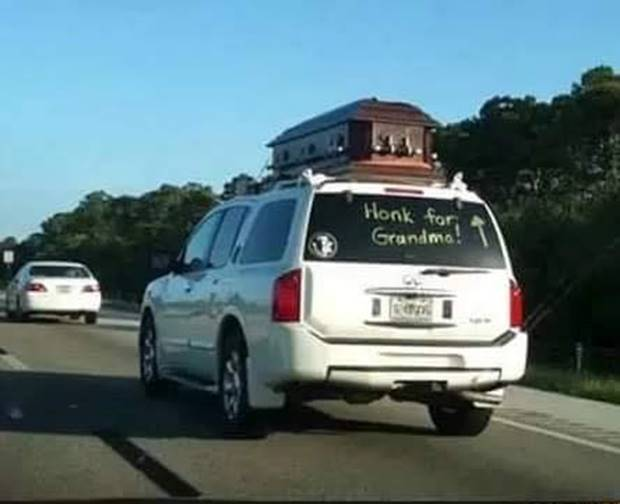 Silly Coffin honk for grandma