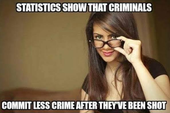 Guns shooting criminals