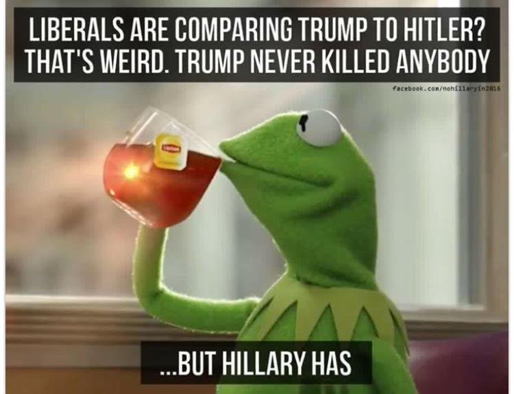 Hillary Trump Hitler killing people