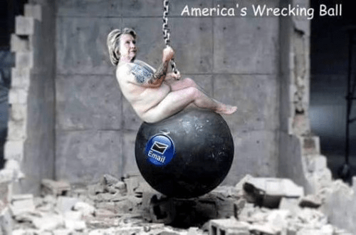 Hillary wrecking ball