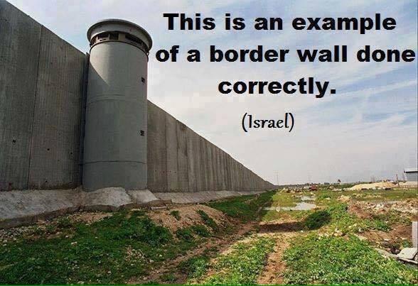 Description: Immigration Israel border wall