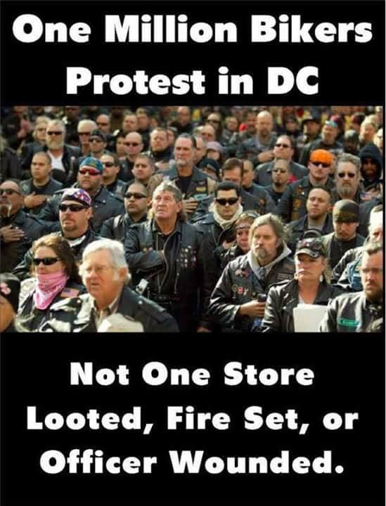 Stupid liberals bikers behave better