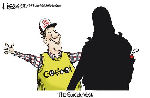 Stupid liberals suicide vest