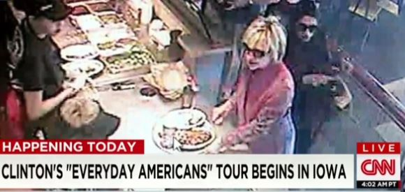 Hillary at Chipotle
