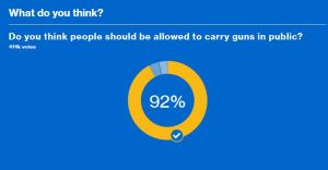 Open carry poll