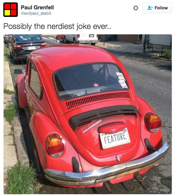 Silly volkswagen pun
