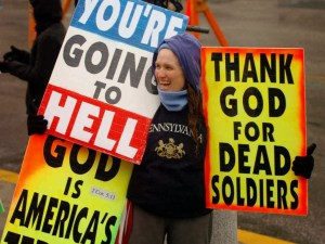 Westboro Baptist protest