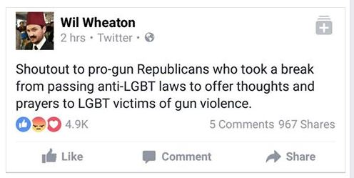 Will Wheaton on Orlando