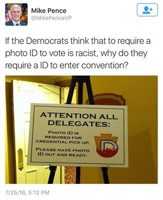 Democrats ID required for convention