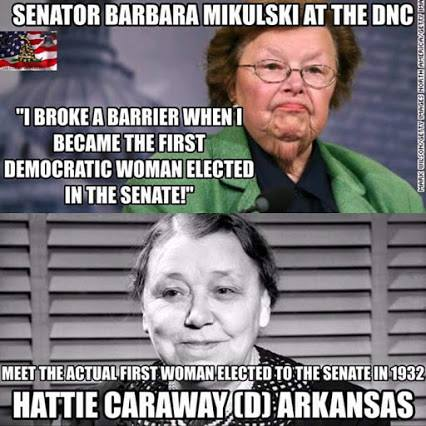 Democrats first women Hattie Caraway to Barbara Mikulski