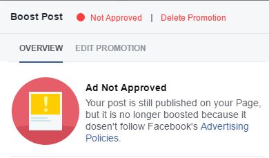 Facebook rejects me