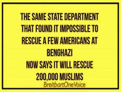 Government state department won't rescue Americans only Muslims