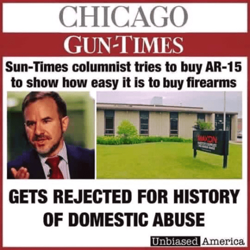 Guns Chicago times columnist rejected