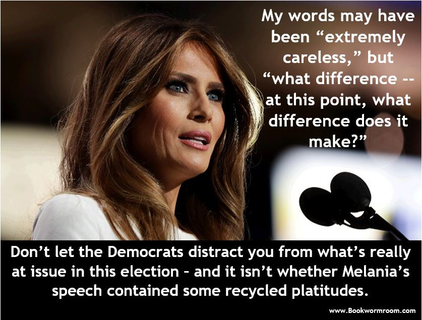 Melania's speech what difference does it make