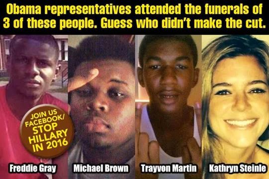 Obama attends black thugs' funerals