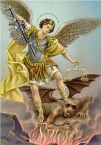 St. Michael smites Satan with his AR-15