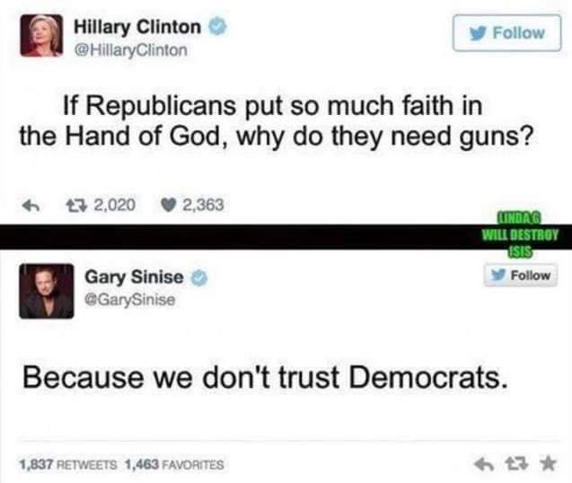 Gun scary Democrats