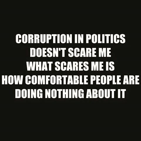 Politics corruption people comfortable