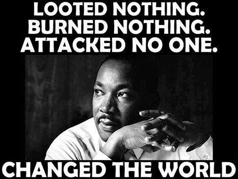 Black MLK effective peaceful protest