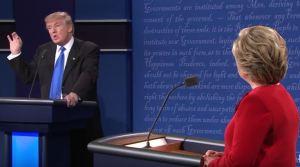 Donald and Hillary debate