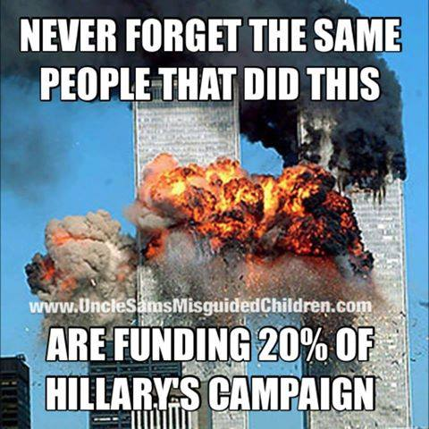Hillary funded by 911 funders